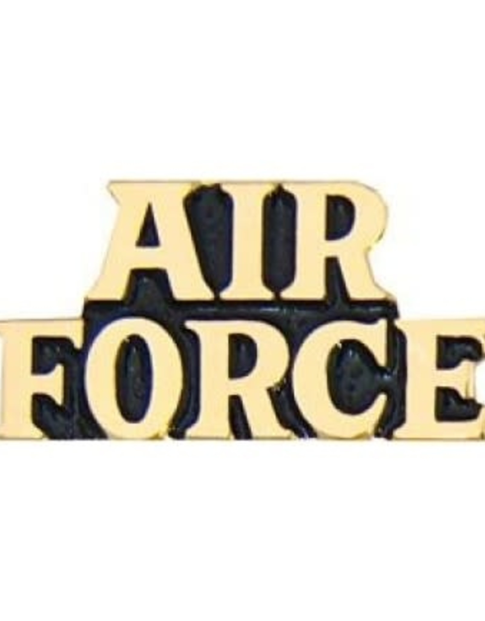 MidMil Air Force Text Pin 1""