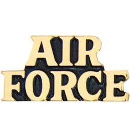 """Air Force Text Pin 1"""""""