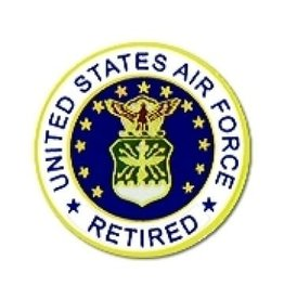 MidMil United States Air Force Seal Retired Pin 7/8""