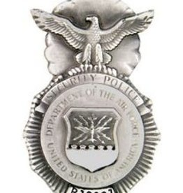MidMil Pewter Air Force Security Police Badge Pin 1 3/4""