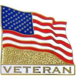 """MidMil Veteran American Flag Pin 1"""""""