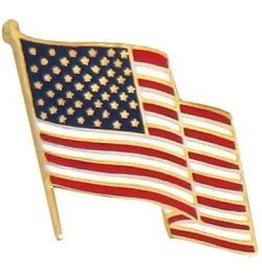 MidMil Wavy American Flag Pin 5/8""