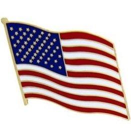 "MidMil Waving American Flag Pin 1 1/2"""