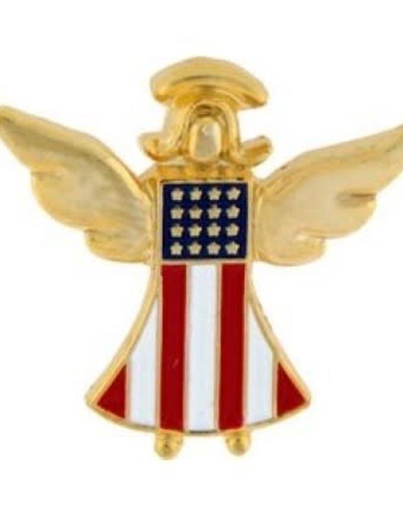 "MidMil American Guardian Angel Pin 7/8"""