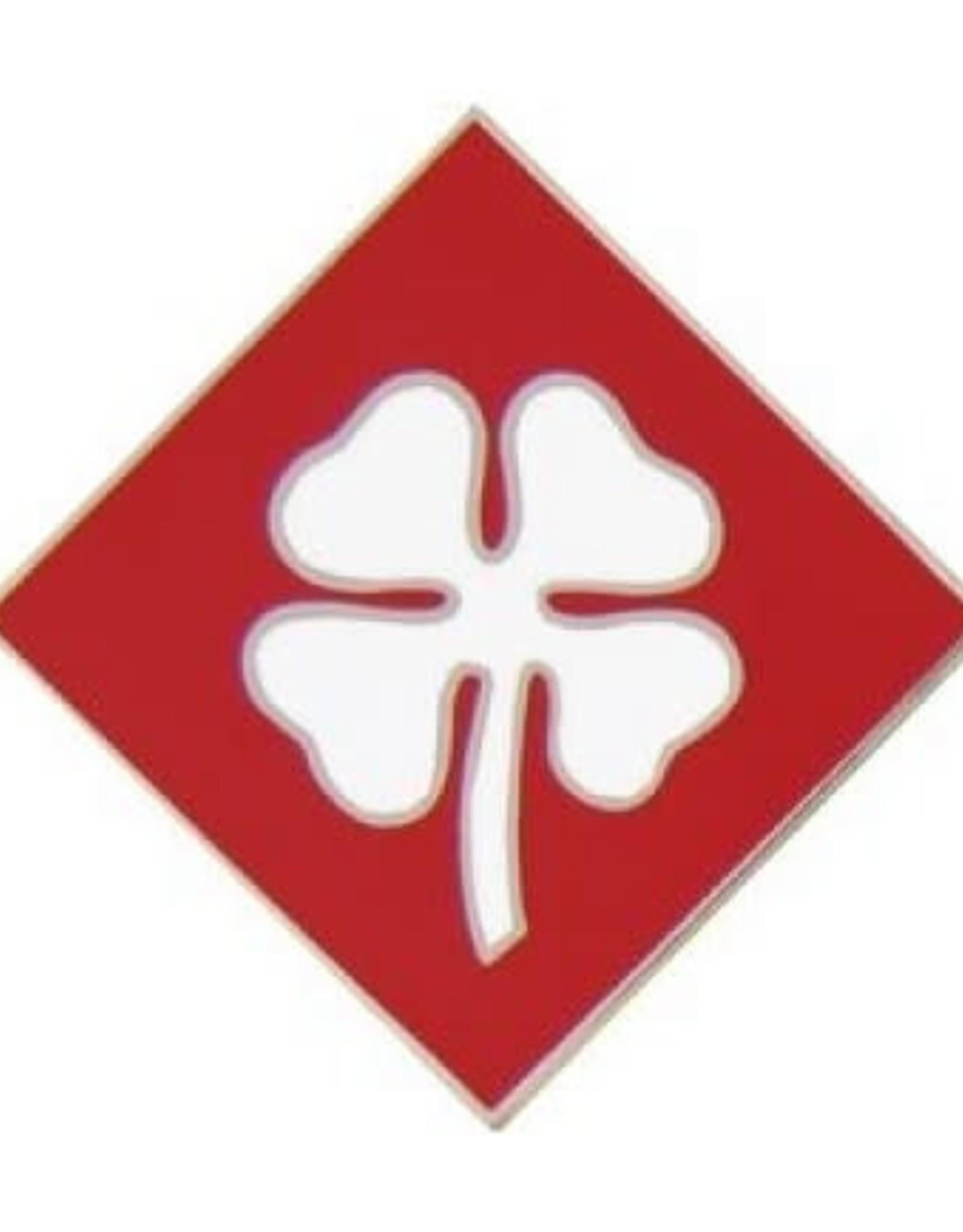 "MidMil 4th Army Pin 3/4"""