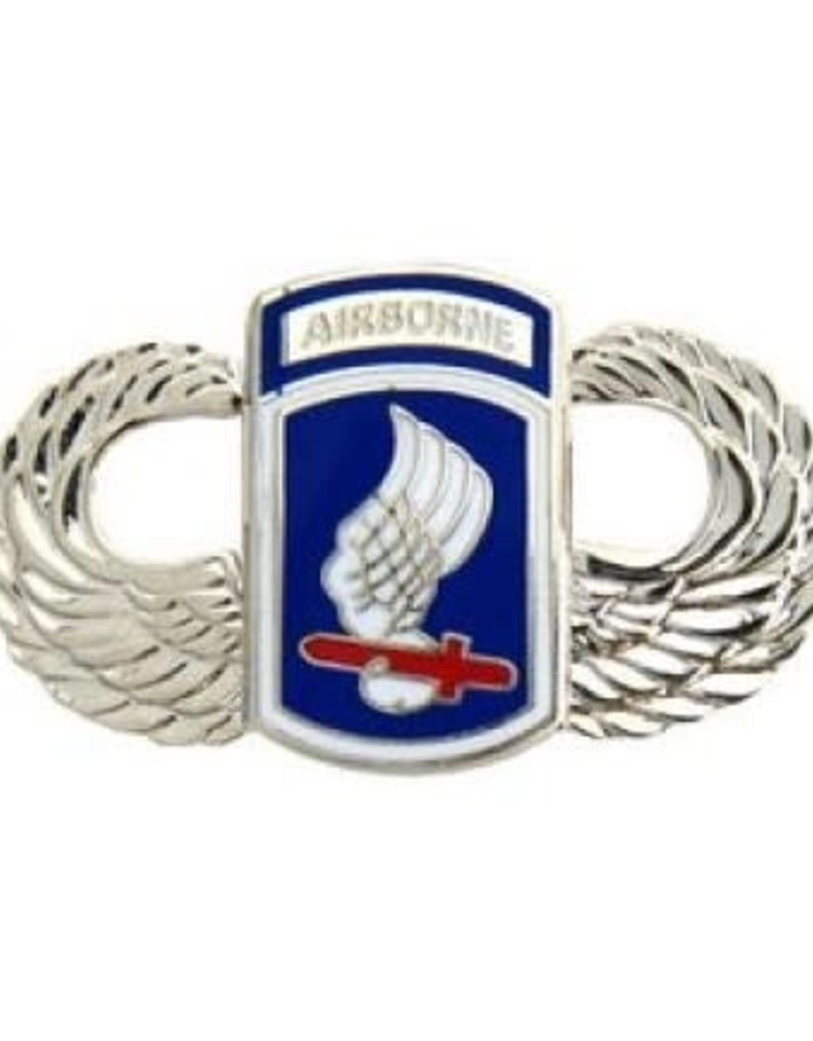 "MidMil 173rd Airborne Brigade Parachutist Wings Pin 1 1/2"""