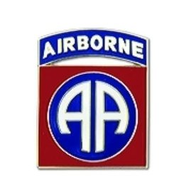 """MidMil 82nd Airborne Division Emblem Pin 7/8"""""""