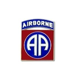 """MidMil 82nd Airborne Division Emblem Pin 5/8"""""""