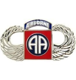 MidMil 82nd Airborne Division Parachutist Wings Pin 1 1/2""