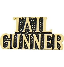 MidMil Tail Gunner Text Pin 1 1/8""