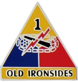 """1st Armor Division Emblem Pin with Motto 1"""""""