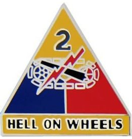 """2nd Armor Division Emblem Pin with Motto 1"""""""