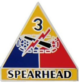 MidMil 3rd Armor Division Emblem Pin with Motto 1""