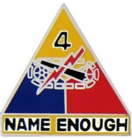"""4th Armor Division Emblem Pin with Motto 1"""""""