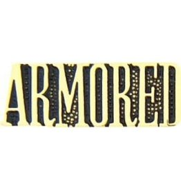 MidMil Armored Text Pin 1 1/8""