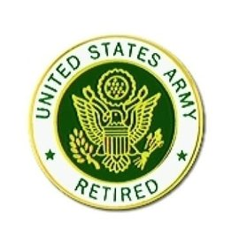 """MidMil United States Army Retired Pin with Army Seal 7/8"""""""