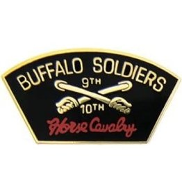 "MidMil 9th 10th ""Horse Cavalry"" Pin Buffalo Soldiers 1 1/8"""