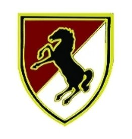 "MidMil Army11th Armored ""Black Horse"" Cavalry Pin  1"""