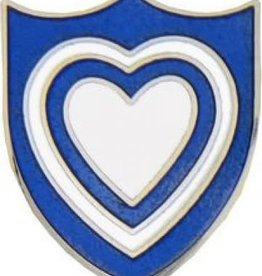 "MidMil Army 24th Corps Emblem Pin 7/8"""