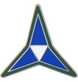 "MidMil Army 3rd Corps Emblem Pin 7/8"""
