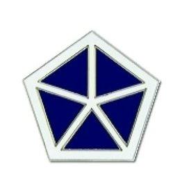 "MidMil Army 5th Corps Emblem Pin 7/8"""