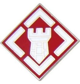 MidMil Army 20th Engineer Brigade Emblem Pin 3/4""