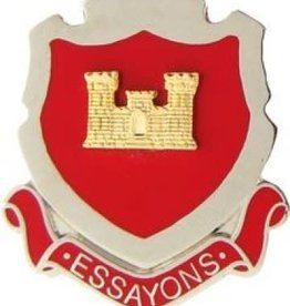 """Army Corps of Engineers Pin with Motto """"Essayons"""" 1 1/16"""""""