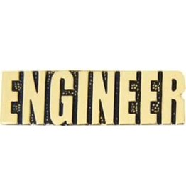 """Army Engineer Text Pin 1 1/4"""""""