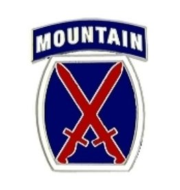 """MidMil Army 10th Mountain Infantry Division Pin 1"""""""