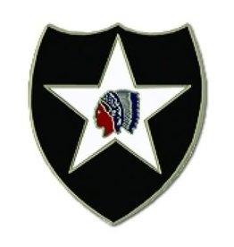 "MidMil 2nd Infantry Division Emblem Pin 1"""