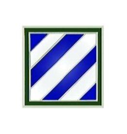 "MidMil 3rd Infantry Division Emblem Pin 3/4"""