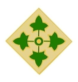 MidMil 4th Infantry Division Emblem Pin 1""
