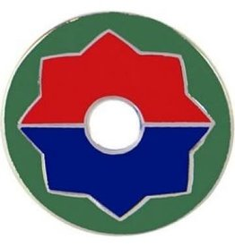 """MidMil 9th Infantry Division Emblem Pin  7/8"""""""