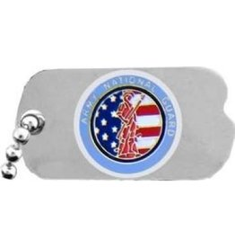 MidMil Army National Guard Dog Tag  Pin 1""
