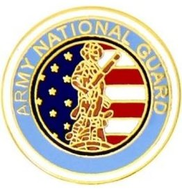 MidMil Army National Guard Seal Pin 1 1/2""