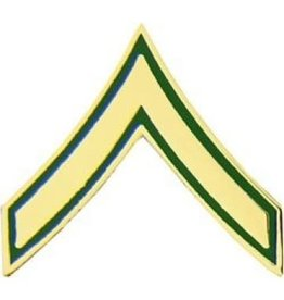 "MidMil Army Private (E-2) Pin 3/4"""