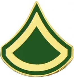 """MidMil Army Private 1st Class (E-3) Pin 3/4"""""""