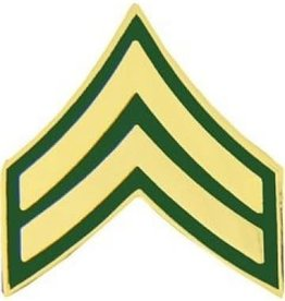 """MidMil Army Corporal (E-4) Pin 3/4"""""""