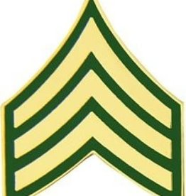 """MidMil Army Sergeant (E-5) Pin 3/4"""""""
