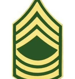 """MidMil Army Master Sergeant (E-8) Pin 1 1/4"""""""
