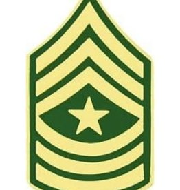 """MidMil Army Sergeant Major (E-9) Pin 1 1/4"""""""