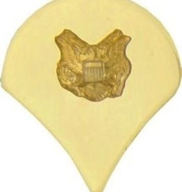 """MidMil Army Specialist (E-4) Pin Gold 1"""""""