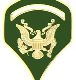 "MidMil Army Spec 5 (E-5) Pin 1 1/8"""
