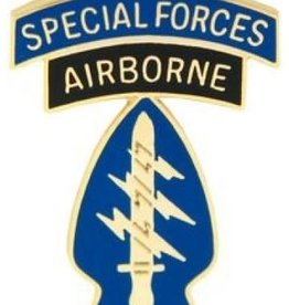 """MidMil Army Special Forces Airborne Pin 1 1/8"""""""