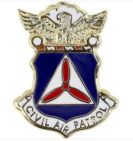 MidMil Civil Air Patrol Shield with Eagle Pin 5/8""