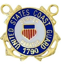 MidMil Coast Guard Seal withvCrossed Anchors Pin 7/8""