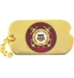 """Coast Guard Seal Dog Tag Pin 1"""""""