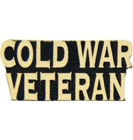 MidMil Cold War Veteran Text Pin 1 1/4""