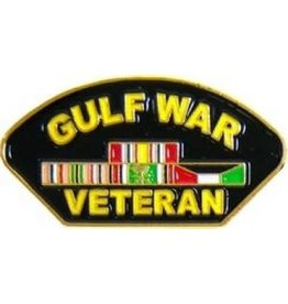 MidMil Gulf War Veteran w/ Ribbons Pin 1 1/4""