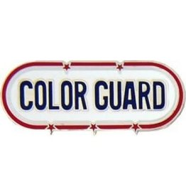MidMil Color Guard Oval Pin 1 1/2""